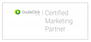 DoubleClick Certified Marketing Partner Badge - Horizontal White
