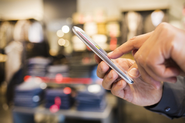 In-store mobile phone use