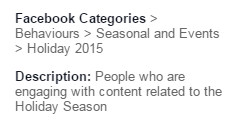 Facebook Holiday Targeting