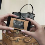 Smart phone Window shopping or showrooming  a handbag