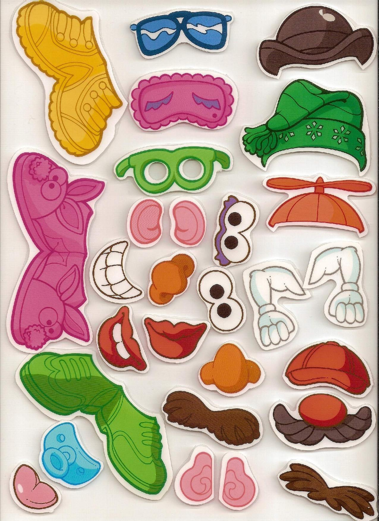 It is a picture of Effortless Mr Potato Head Printable Parts